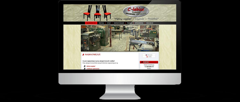 Strona zakładu stolarskiego