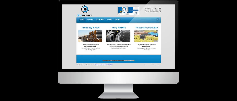Strona internetowa XVPlast
