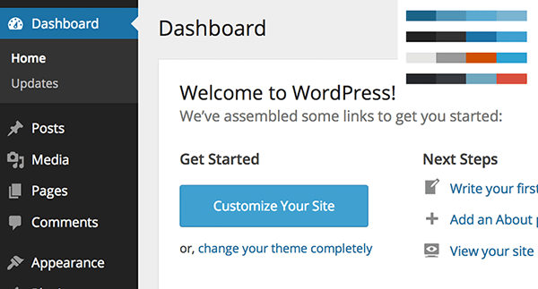 WordPress 3.8 panel zarządzania